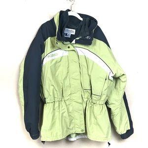 Columbia Core interchange green/black coat